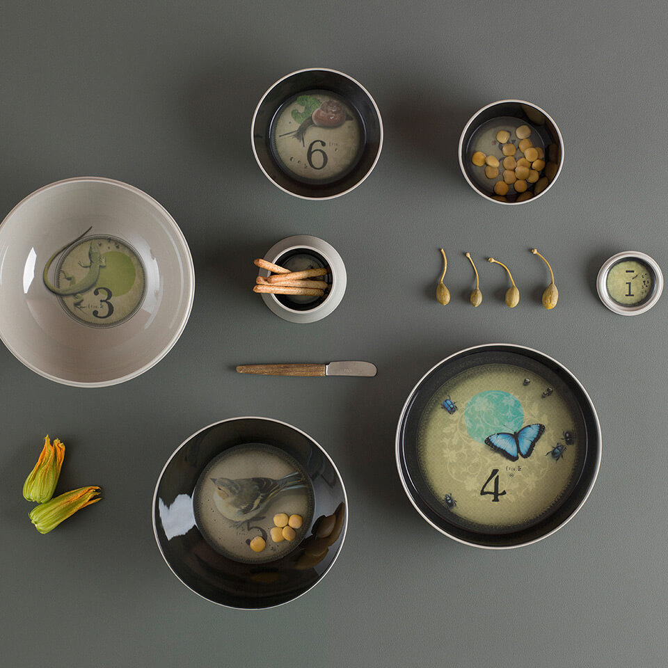 Ibride Ming Grey – stapelbares Schüssel-Set