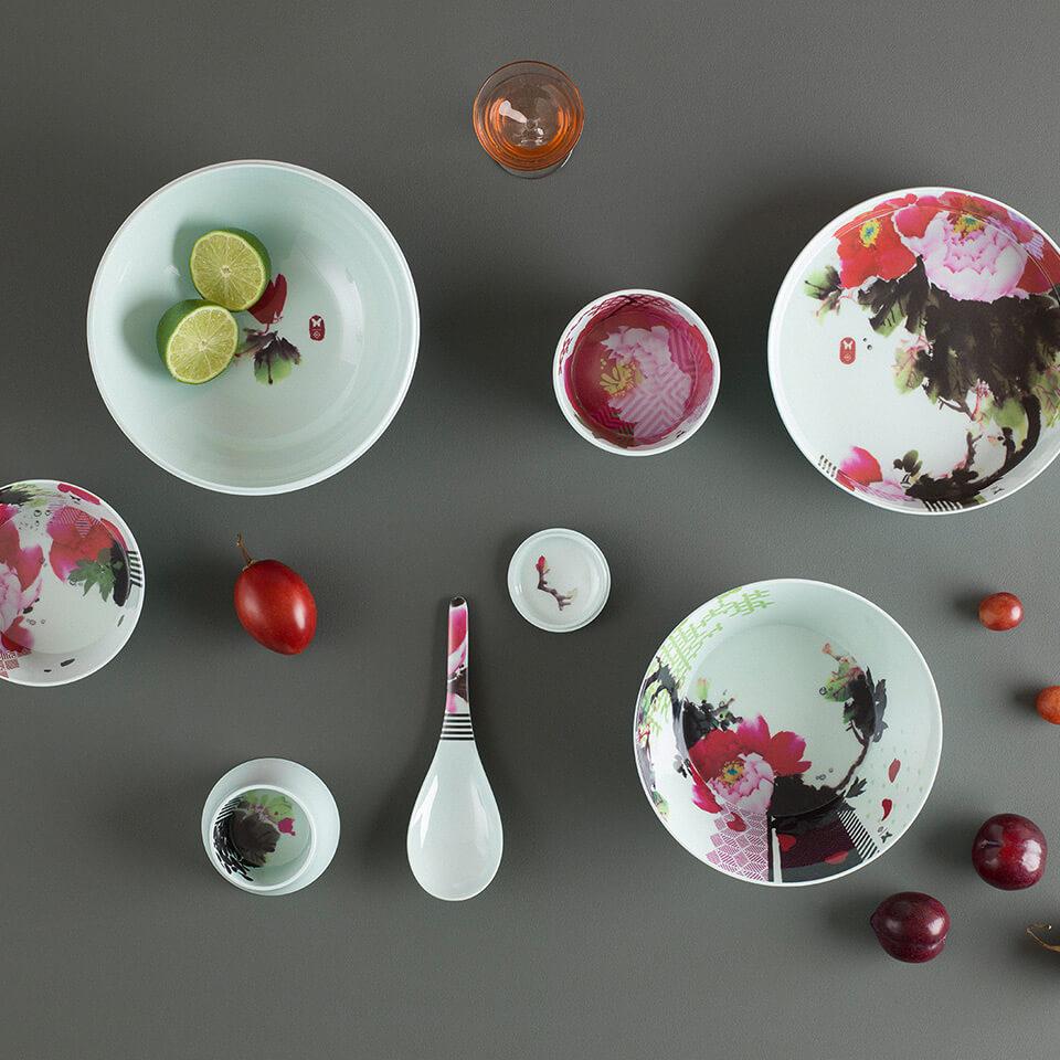Ibride Ming Pivoine – stapelbares Schüssel-Set