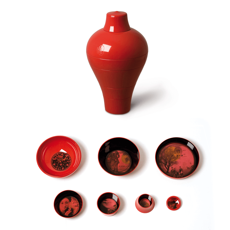 Ibride Ming China Red – stapelbares Schüssel-Set