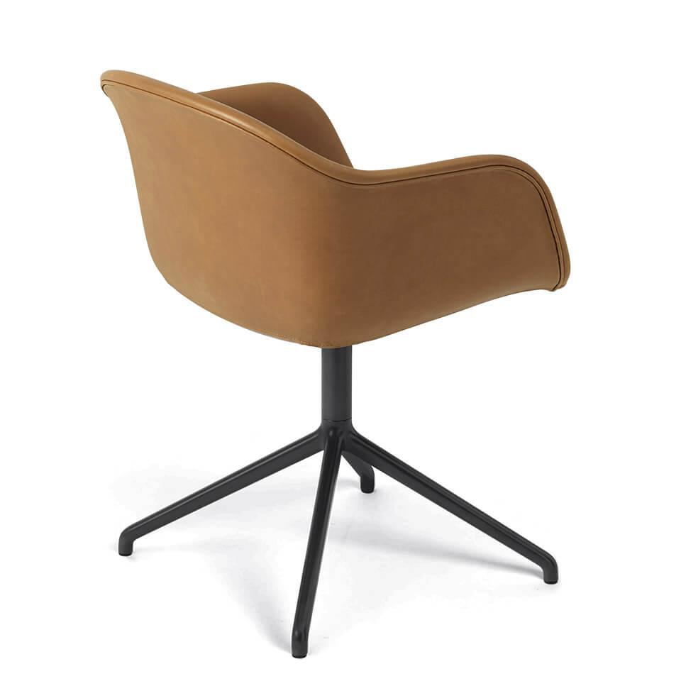 muuto fiber armchair stuhl leder iskos berlin