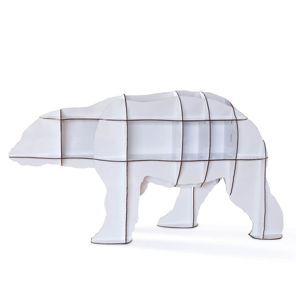 junior ibride polar bear bookcase
